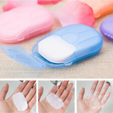 100 Pcs Disposable Boxed Paper Soap Travel Portable Hand Washing Box Scented US