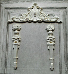 Pediment & Columns Moulding set White Ornate French Style Decorative Furniture
