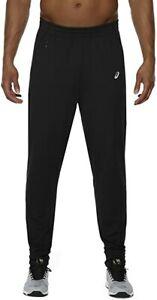 Asics Men's Sports Joggers Tech Knit Sports Trouser Pant - Black - New