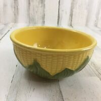 Vtg Shawnee Pottery Size 8 Yellow Green Corn King Serving Bowl Mixing