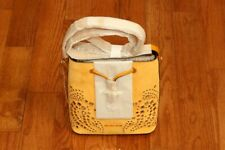 NWT Michael Kors Cary Embellished Suede Bucket Crossbody Bag Marigold/Gold