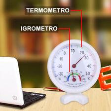 IGROMETRO TERMOMETRO ESTERNO INTERNO TEMPERATURA ANALOGICO MISURA PLASTICA xh