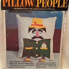 Make Your Own Pillow People Kit - 1968! Felt & Stickers! From Funtastic! Vintage