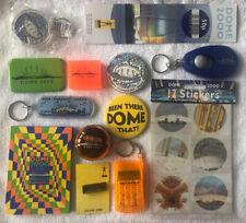 More details for millennium dome badge pencil sharpener rubber torch calculator sticker pad set
