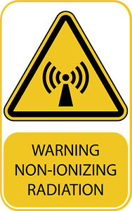 Non-Ionizing Radiation Work Place Warning Signs Safety Yellow A7 A6 A5 A4 A3