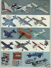 1961 PAPER AD 2 PG Toy Engine Powered Airplanes Plane Wen Mac COLOR USMC Corsair