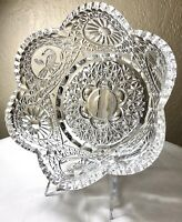 """Vintage Hofbauer Byrde Collection 8"""" Paneled Fluted Heavy Lead Crystal Bowl EUC"""