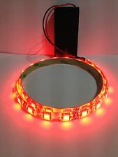 Super Bright Red Led Light, 9V Battery Operated 500mm Waterproof Strip.