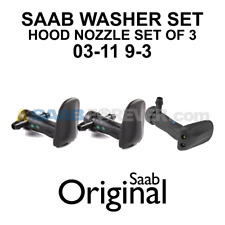 NEW SAAB 9-3 03-11 Washer Nozzle Set 3 Hood Washer Nozzles OEM 12778850 12778849