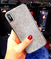 Bling Luxury Diamond Crystal Cell Phone Cover Case For iPhone 7 8 Plus XR XS Max