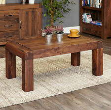 Shiro dark wood solid walnut modern living room furniture open coffee table