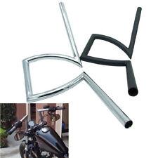 """Universal 7/8"""" 1"""" 22&25mm Motorcycle Handlebars Pullback Z Drag Bar Black Chrome"""