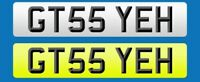 GTS YEH (GT55 YEH) Private number plate BMW PORSCHE 911 MUSTANG V6 CLEAR UNIQUE