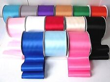 QUALITY SATIN SASH RIBBON-4 inch/100MM EXTRA WIDE-19 COLOURS-Party-Fast Dispatch