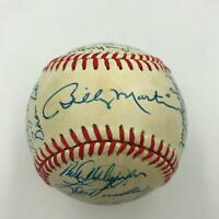 Nice 1985 New York Yankees Team Signed Baseball Don Mattingly With JSA COA