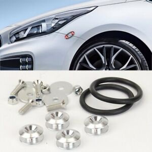 Silver Aluminum Quick Release Fasteners Kits For Front  Rear Bumper Fender