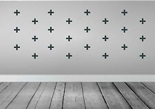 Cross Shape Wall Sticker Removable Wall decal  75mm , Choice of colour