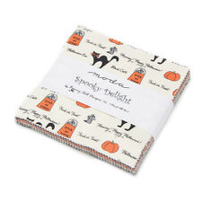 """Moda FABRIC Charm Pack ~ SPOOKY DELIGHTS ~ by Bunny Hill Designs 42 - 5"""" squares"""