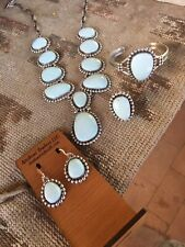 Dry Creek Turquoise Necklace, Earring, Bracelet, & Ring Set By Lorenzo James