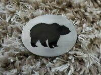 VINTAGE 1993 CALI BEAR CALIFORNIA COMMEMORATIVE SISKIYOU PEWTER BELT BUCKLE