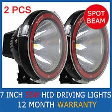"2PCS 55W 7 INCH HID XENON DRIVING LIGHTS SPOT BEAM SPOTLIGHT OFF ROAD 7"" 4WD"
