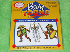RARE 1992 Official Legend of Zelda NEW Vintage Tattoo Tatoo Kit SNES NES Link II