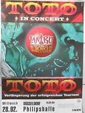 TOTO  1995  DÜSSELDORF   orig.Concert Poster-Tour Poster 84 x 60 cm