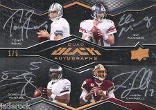 Eli Manning Tony Romo McNabb 2009 UD Black Quad Autograph Signature #1/5 AUTO