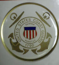 "USCG COAST GUARD COASTIE FULL COLOR 2"" INCH EPOXY DOME CAR DECAL STICKER EMBLEM"