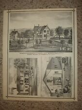 1876 CHERRY HILL HACKENSACK ENGLEWOOD NEW JERSEY PRINT