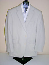 $350 New Jos A Bank natural stretch Poplin suit sand 40 L 34 W Tailored fit