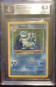 Blastoise Holo Rare 1999 Base Unlimited 2/102 BGS 8.5 NM-MT+!!!