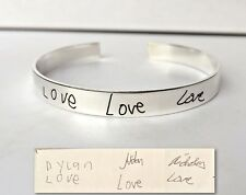 Signature Cuff Bracelet - Handwriting Jewelry- Love Gift