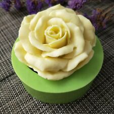 3D Rose Shaped Soap Mold Flowers Series Silicone Gift Handmade Clay Candle Mold