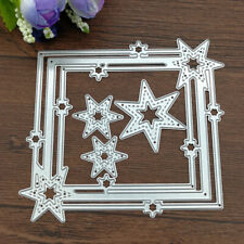 Star Frame Carbon steel Cutting Dies Scrapbooking Embossing Cut Stencils Templat