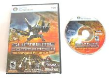 Supreme Commander Forged Alliance PC DVD Video Game, Rated E, Windows 1210