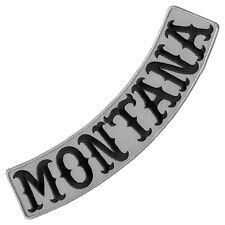 "VEGASBEE® MONTANA REFLECTIVE EMBROIDERED IRON-ON PATCH BIKER LOW ROCKER 12"""