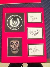 The Misfits Autographs-Bobby Steele,Mr. Jim, Franche Coma