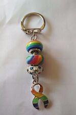 LGBT Gay Pride Beaded Key Ring/ Bag Charm