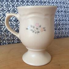 Vintage Pfaltzgraff Remembrance Pedestal Mug Floral