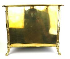 Art Deco Brass & Cast Iron Log Coal Box Bin
