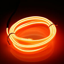 Car EL Wire Neon LED Interior Atmosphere Glow String Strip Lights Rope Tube Lamp