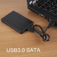 "USB 3.0 Hard Drive Disk 2.5"" SATA HDD SSD External Slim Enclosure Case + Pouch"