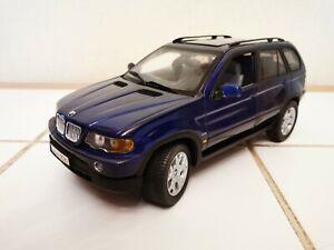 ANSON - 1:18 E - BMW X5 4.4i - SERIE E53 - ANNEE 1999 - BLEU METAL. - REF. 30385