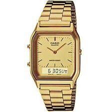 Casio Uhr AQ-230GA-9DMQ Analog Digital Herren Damen Gold Datum Watch NEU & OVP