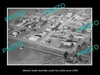 OLD LARGE HISTORIC PHOTO HAWKER SOUTH AUSTRALIA AERIAL VIEW OF TOWN c1940