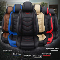 1× Breathable PU Leather Car Front Seat Cover Pad Protector Cushion Universal