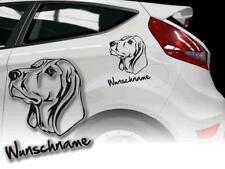 Auto Aufkleber Hundeaufkleber Black and Tan Coonhound
