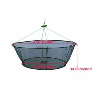 Folded Crab Fishing Trap Net Bait Cage Fish Crayfish Shrimp Prawn Eel Live Mesh