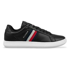 Tommy Hilfiger Trainers - Tommy Hilfiger Essential Leather Cupsole Trainers -